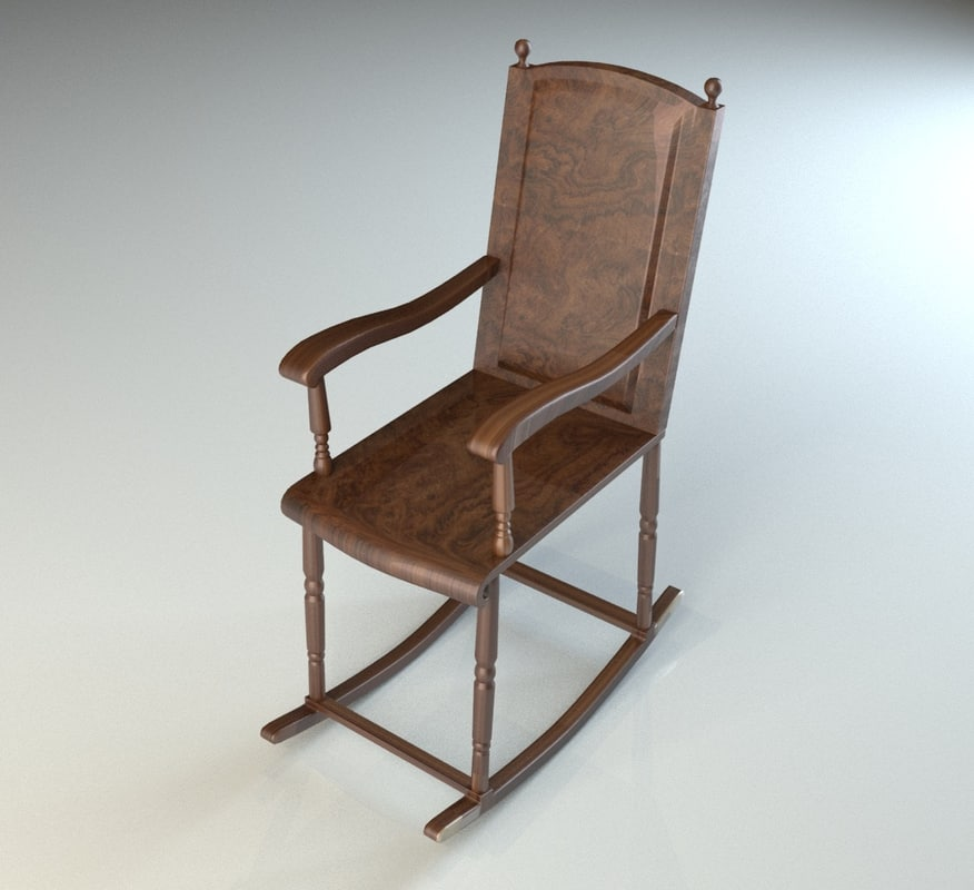 wooden rocking chair 3d max