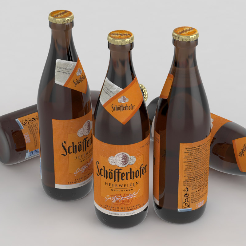 beer bottle bier 3d model