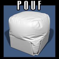 3d model pouf interiors