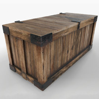 3d 3ds ready retro wooden crate