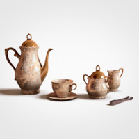 antique set tea obj