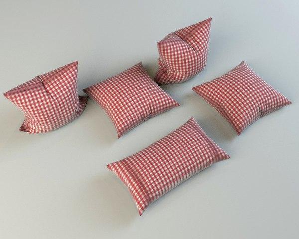 3d model pillows