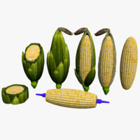 corn sliced cut 3d model
