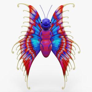 3d model cartoon butterfly