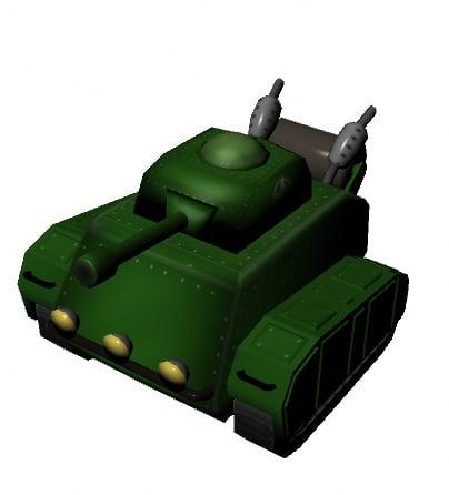 3d model toon tank