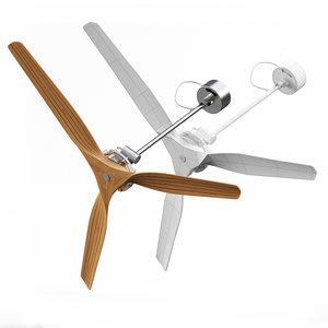 3d model 5 fans
