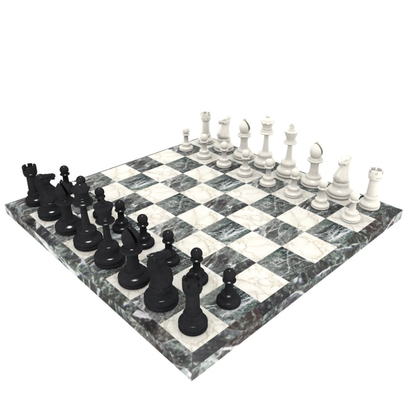 chess set 3d 3ds