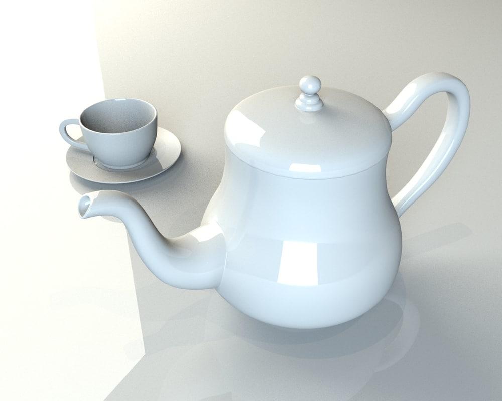 3d model cup teapot