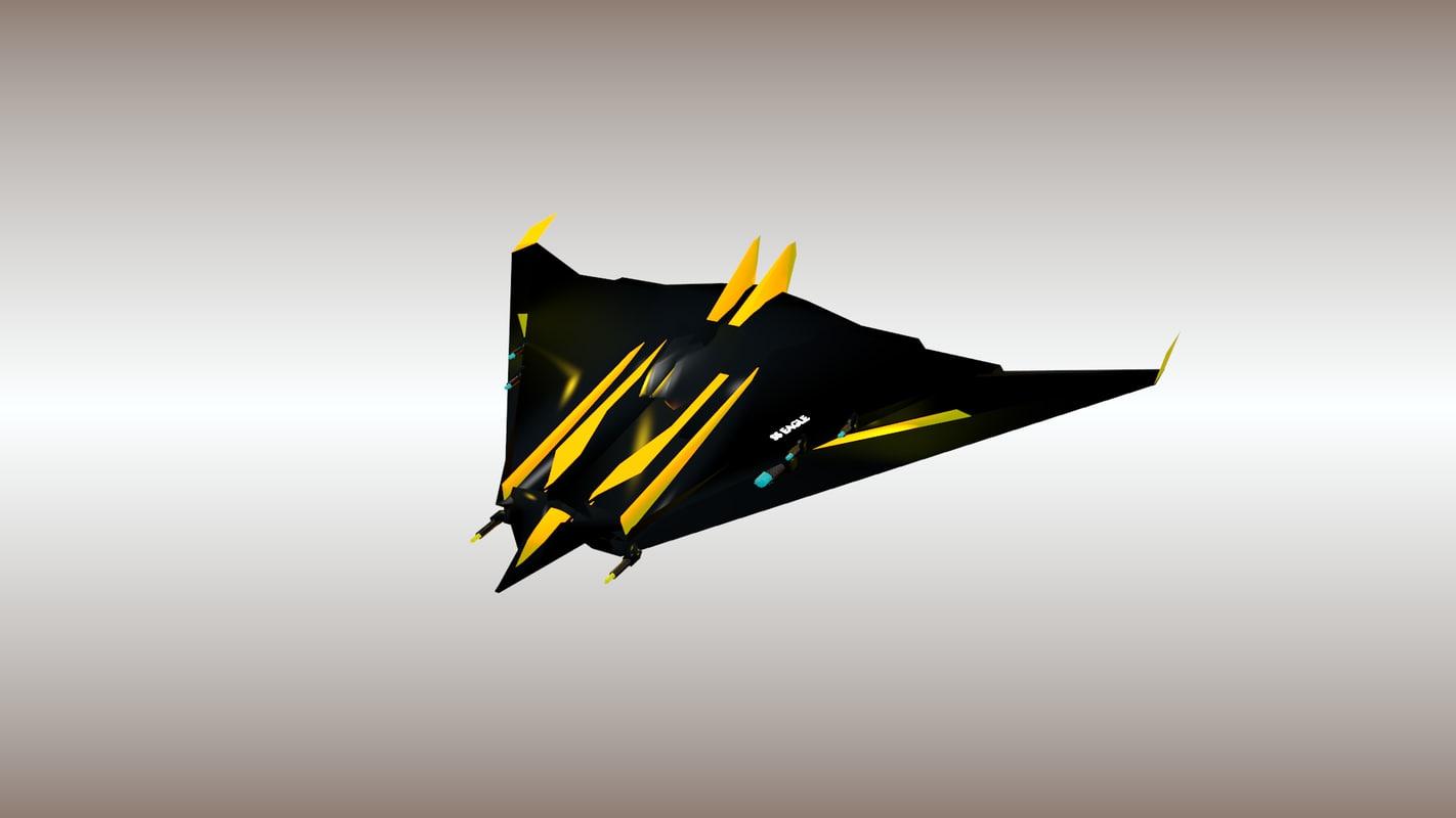 3d spaceship ss-eagle