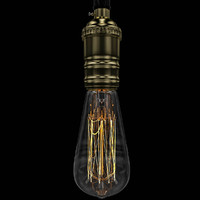 light bulb edison e26 3d model