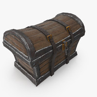 chest wooden 3d max