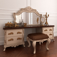 3d model dressing table set angelo