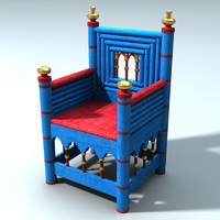 3d medieval norman chair