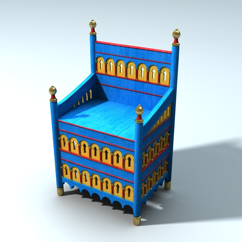 3d model medieval norman throne