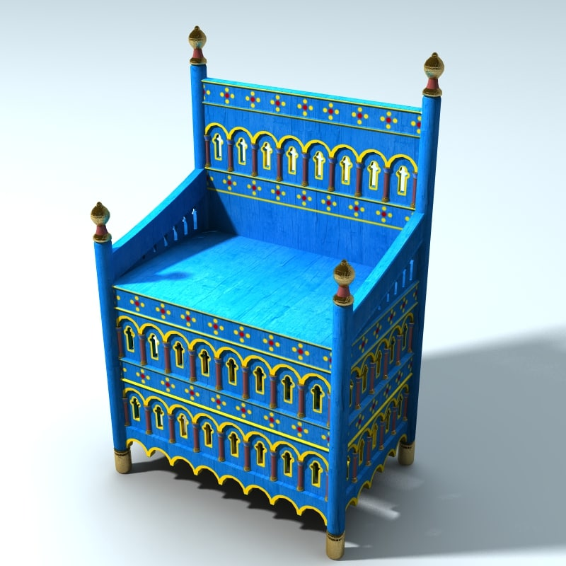 lwo medieval norman throne