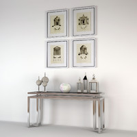 3d eichholtz palmer console table
