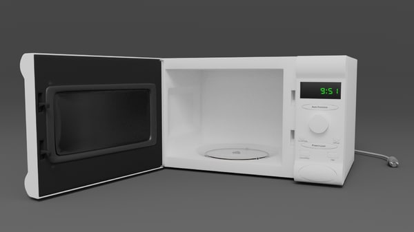 3d model of microwave oven
