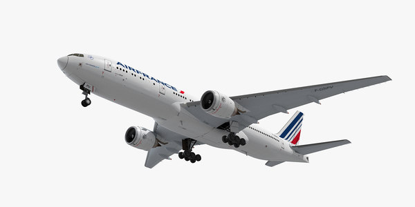 boeing 777-200 plane air france 3d model
