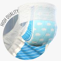 diaper modo 3d max