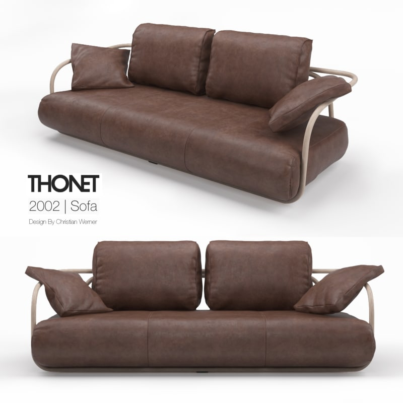 3d model thonet sofa