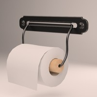 toilet svartsjn roll holder 3d model