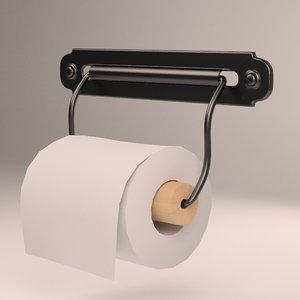 toilet svartsjn roll holder 3d model