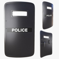 ballistic shield 3d model