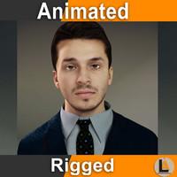 3d businessman animator model