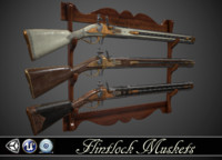 Double-barreled Flintlock Rifle - 3 skins
