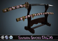 3d sword samurai tachi