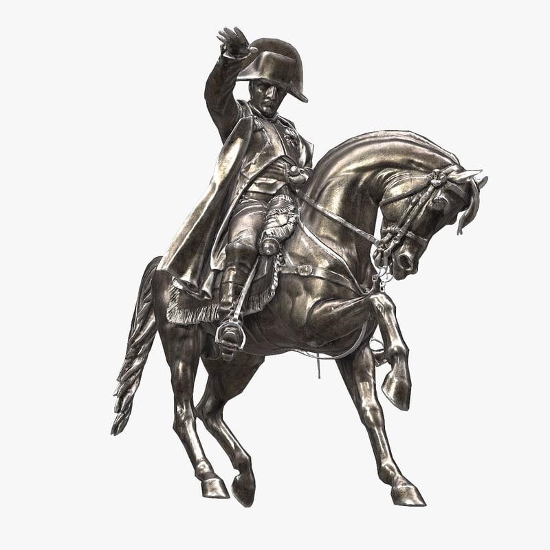 napoleon cherbourg monument 3d model