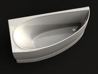3d bath drop corner model