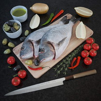 Fresh fish - Set of decor for the kitchen