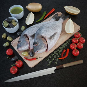 fresh fish - set 3d model