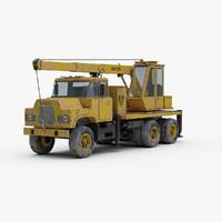 mack dm 600 crane truck 3d model
