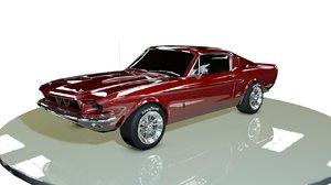 3d classic sports car model