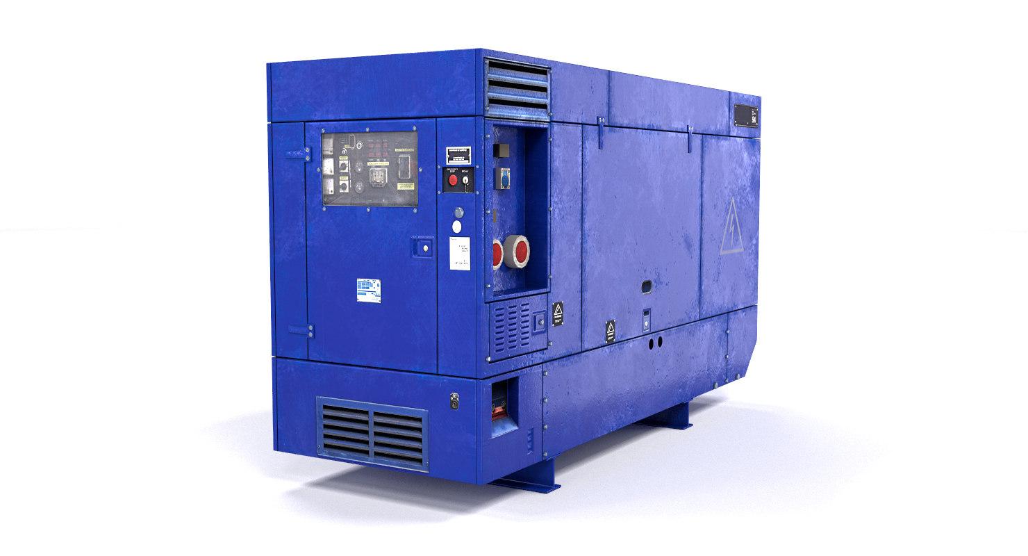 3d model electric power generator