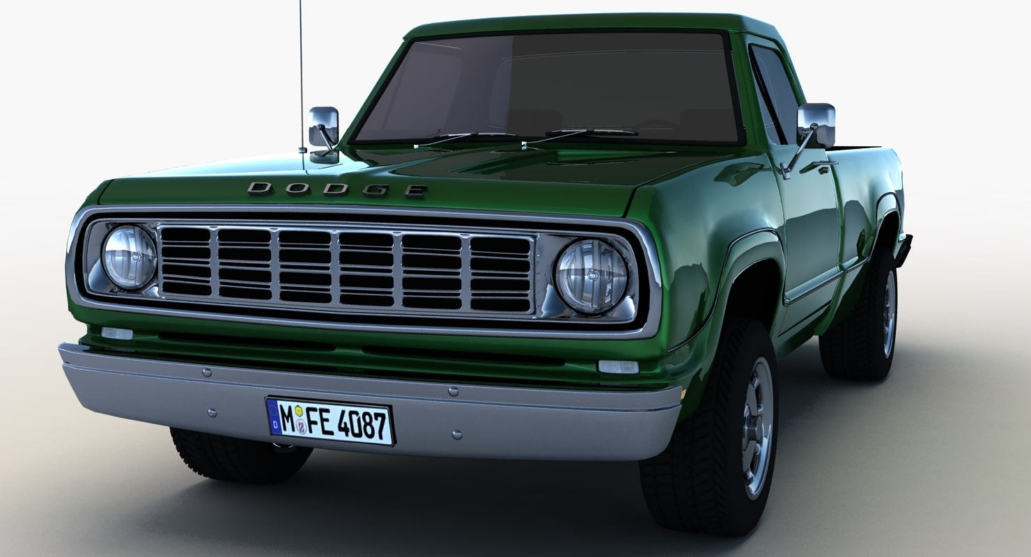 dodge w200 1975 3d model