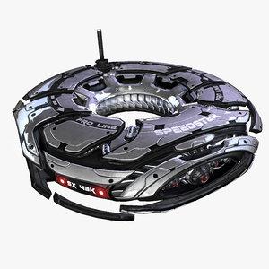 3d fbx survailance drone
