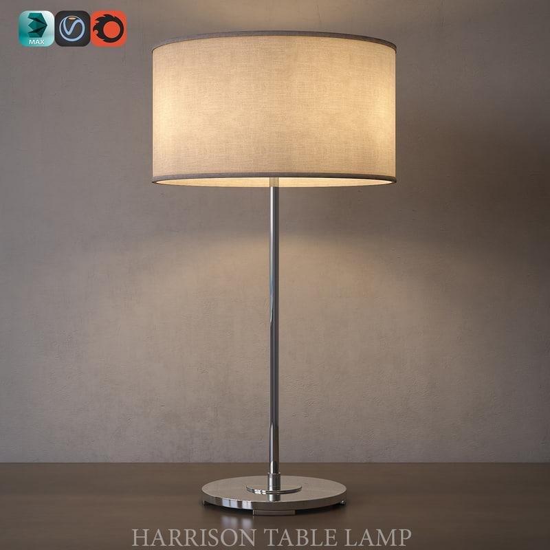 3d model of harrison table lamp