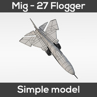 mig-27 flogger simple 3d model