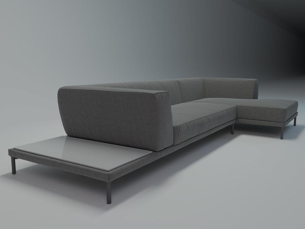 3d bonaldo marcu sofa model