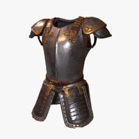 3d model medieval armor