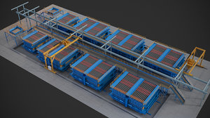 3d max concrete plant machine