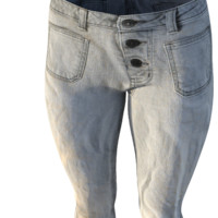 High Poly Low Rise Jeans
