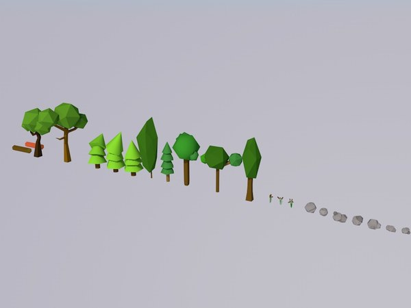 3d pack forest trees model