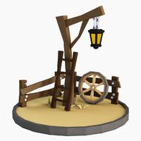 scene lantern 3d model