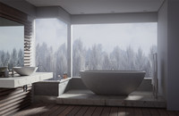 scene bathroom interior blend
