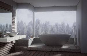 scene bathroom interior blend