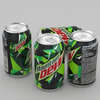 3d beverage mountain dew 330ml model